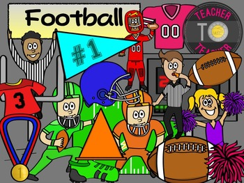 Football Clipart - Sports Clipart {TeacherToTeacher Clipart}