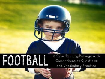 Football Close Reading Practice
