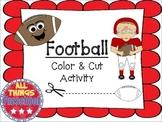 Football Color & Cut; Fine Motor Skills Practice