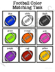 Football Color Matching Folder Game for Early Childhood Special Education