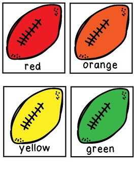 Football Color Word Cards [ Freebie ]