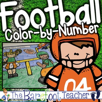 Football Color-by-Number FREEBIE