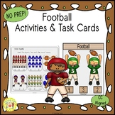 Football Count and Clip Sports Task Cards