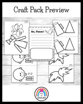 Sports Craft and Writing Pack: Football Player and ...