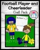 Football Player and Cheerleader Craft Pack (Sports, Super Bowl)