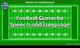 Football 4 Speech Open-Ended Game | Digital | Google Slides