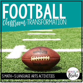 Football Day! | Football Themed Reading + Math Activities