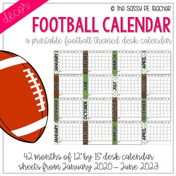 Football Desk Calendar