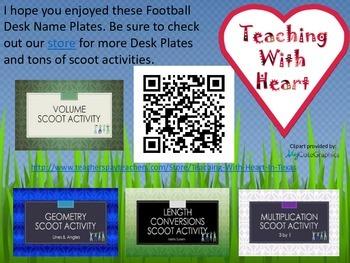 Football Desk Name Plates