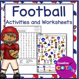 Football Differentiated Activities and Worksheets