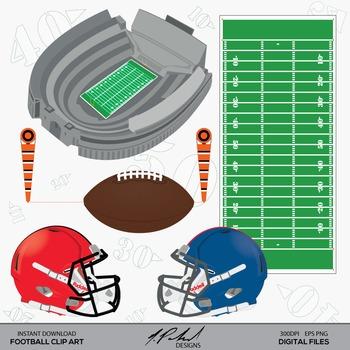 Football Digital Clip Art