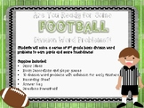 Football Division Word Problems Room Transformation