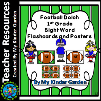 Football Dolch First Grade Sight Word Flashcards and Posters