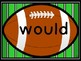 Football Dolch Second Grade Sight Word Flashcards and Posters