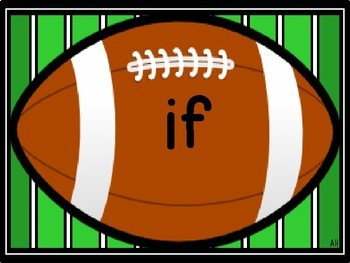 Football Dolch Third Grade Sight Word Flashcards and Posters