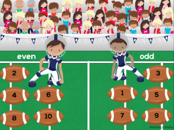 Football Even and Odd (Great for Google Classroom!)