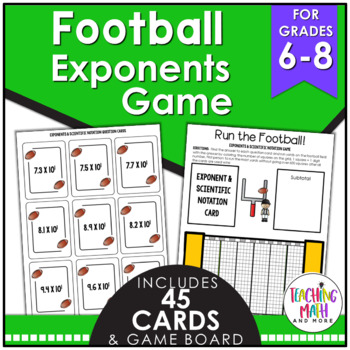 Football Exponents & Scientific Notation Game