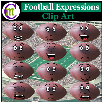 Football Expressions Clipart | Sports Ball Emotions Clip Art
