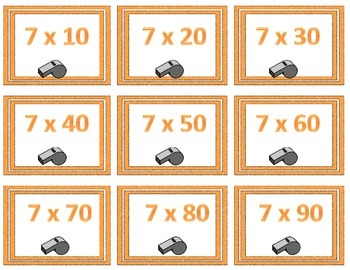 Football Extended Multiplication Facts Game