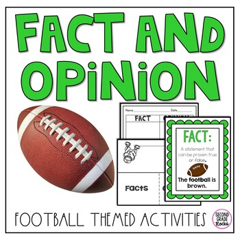 Fact and Opinion Football Activities