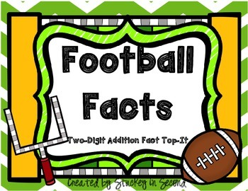 Football Facts-Two Digit Addition Top-It