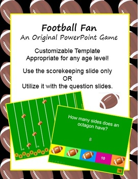 Football Fan (A PowerPoint Game Template)