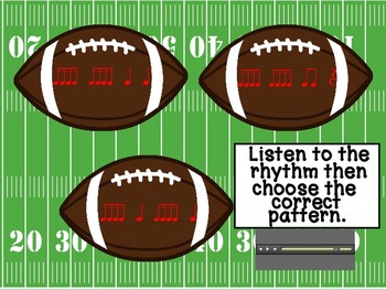 Football Fanatic Interactive Game (Sixteenth Notes)