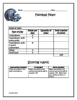Football Feat mini-math project