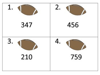 Football Fever---7 Math Centers with 1 Set of Task Cards