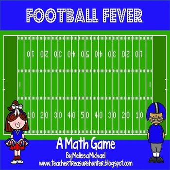 Football Fever Math Game ~ Addition facts to tackle!