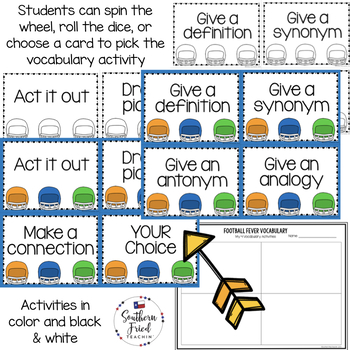 Vocabulary Activities - Fun activities for any subject