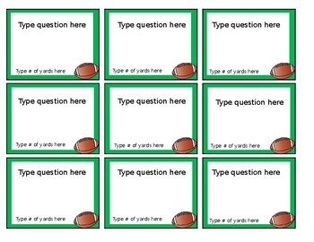 Football Fever (an editable review game for students)