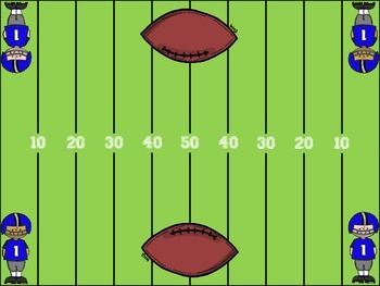 Football Field - A Perfect Game Board for Review and Practice