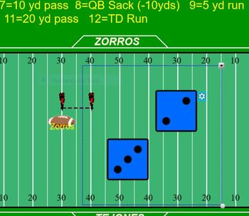 Football Field Game Board (For SmartBoard)
