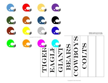 Football Field Game (for use with Task Cards or other Skill Sets)
