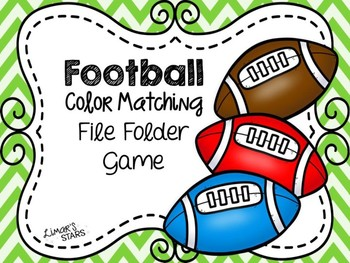 Football File Folder Game:  Color Matching