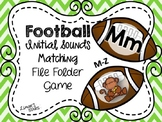 Football File Folder Game: Letter to Initial Sound Matching (M-Z)