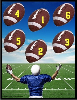 Football File Folder Math Activitiies for Special Education