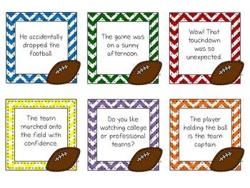 Football Fluency Phrases - Fluency Practice for the Upper Grades