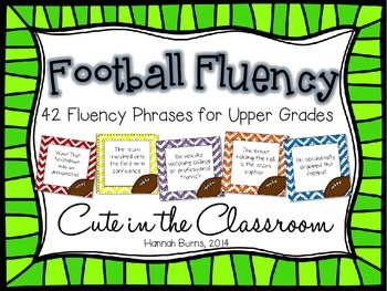 Football Fluency Phrases - Fluency Practice for the Upper Grades