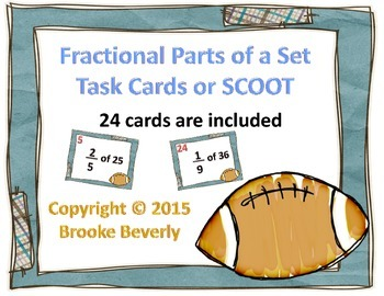 Football Fractional Parts of a Set