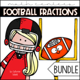 Football Fractions: Fraction Number Line Math Centers TEKS & Common Core