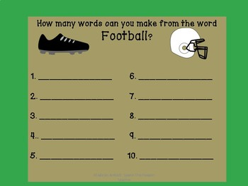 Football Freebie