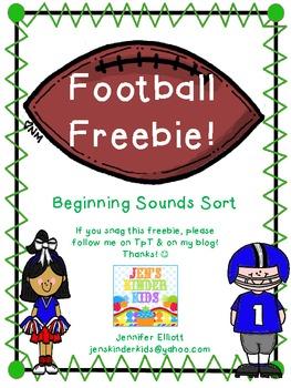 Football Freebie~ Beginning Sounds