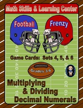 Football Frenzy Game Cards (Multiply & Divide Decimals) Se