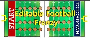 Editable Football Frenzy Board Game