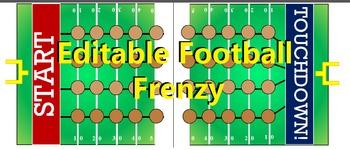 Editable Football Frenzy Board Game