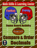 Football Math Skills & Learning Center (Compare & Order Decimals)