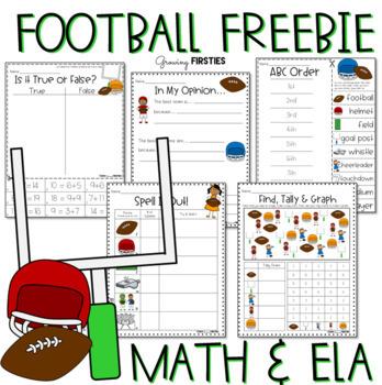 Football Frenzy FREEBIE - ELA & Math Printables