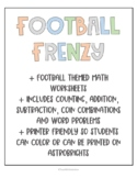 Football Frenzy: Football Themed Math Activities
